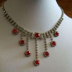 RHINESTONE DANGLES necklace choker